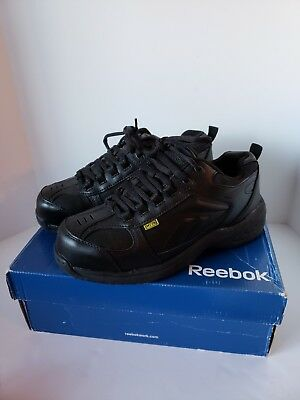 Womens REEBOK Work Black Oxford RB156 8.5 Composite Toe & Metatarsal Safety Shoe