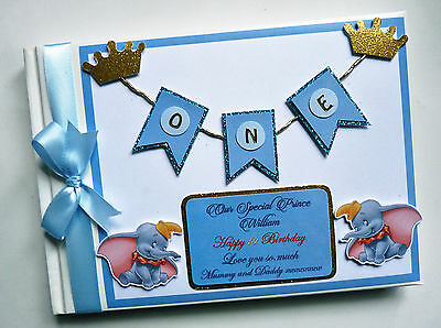 Disney Dumbo Boy/girl /first/1St Birthday/baby Shower Guest Book - Any Design