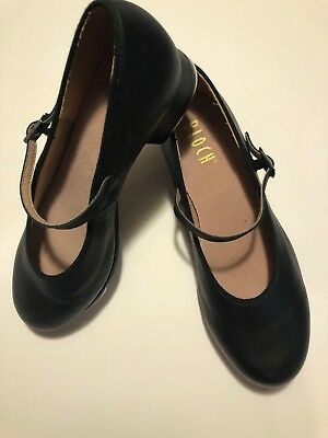 Bloch Women's Size 8 Techno Tap Black Leather Mary Jane Style Tap Shoes