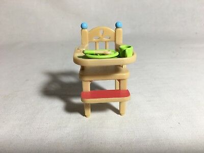 Calico critters/sylvanian families Baby high Chair With Dishes
