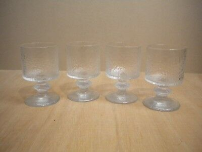 4 Iittala Senaattori wine glasses designed by Timo Sarpaneva