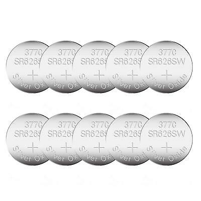 10 Pack SR626SW 377 AG4 LR626 Watch Battery 1.55V 20% Silver Oxide Button Cell