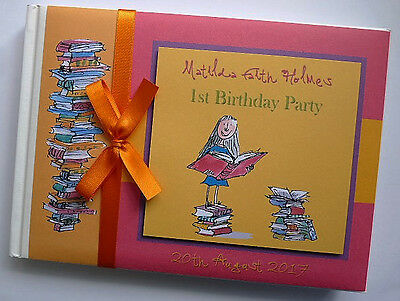 Personalised Book Characters Girls Birthday Guest Book - Any Design