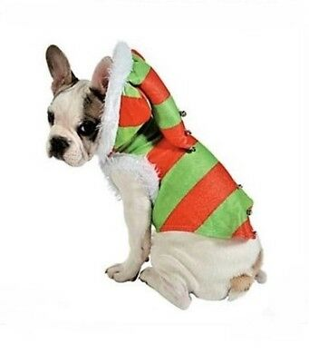 NEW Christmas ELF Small DOG CAT COSTUME Pet Holidays Santa's Helper Halloween