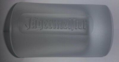Jagermeister Frosted Shot Glass 1oz / 2cl Embossed Logo on Both Sides