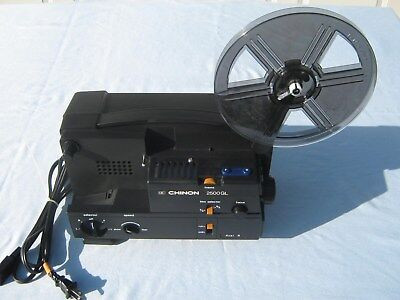 CHINON 2500GL Motion Picture CINE Projector Reel 8mm/Super 8  In Box
