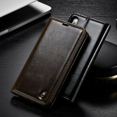Flip Leather Card Slot Wallet Stand Case Cover For iPhone X 8 Plus 7 6 XS Max XR