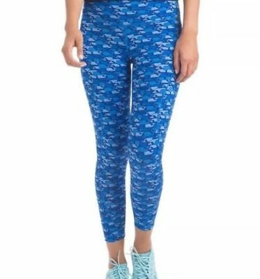 NWT VINEYARD VINES Womens Whale Print Royal Blue Performance Leggings L LARGE