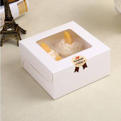 25/50Pcs 2/4/12Holes Muffin Packing Paper White Cupcake Box Wedding Party Favor