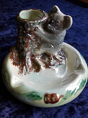 Wembley Ware Koala lustre ashtray  Australian pottery Australiana