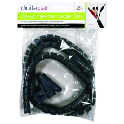 1.5M CABLE TIDY BLACK Kit PC TV Wire Organising Wrap Tool Spiral Office Home