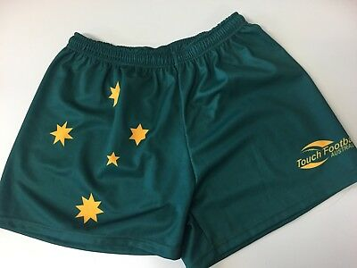 Australian players rep touch football shorts LARGE
