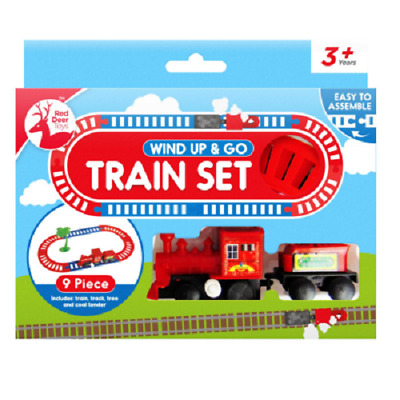 TRAIN TRACK SET WIND UP Toy Kids Childrens Gift Railways Christmas Xmas