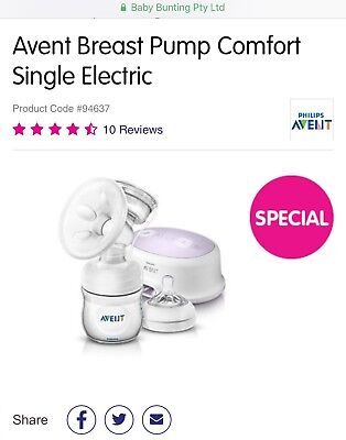 Brand New Philips Avent Natural Breast Pump Single Electric Comfort
