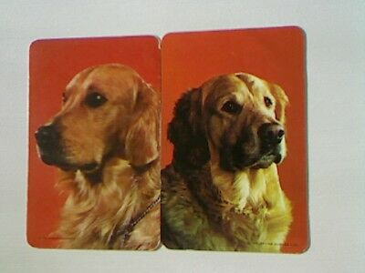 2 Swap/Playing Cards - Pair  Dog Heads (Blank Backs)#