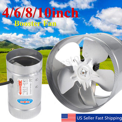 4'' 6'' 8'' 10'' Inch Booster Fan Inline Exhaust Blower for Ducting Vent Cooling