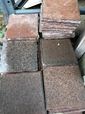 Reclaimed brown red quarry tiles