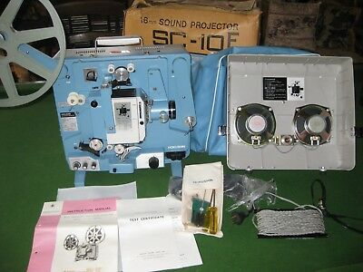HOKUSHIN 1970s SC-10F 16mm Film Projector NEW UNUSED With Box - THRILLING FIND!!
