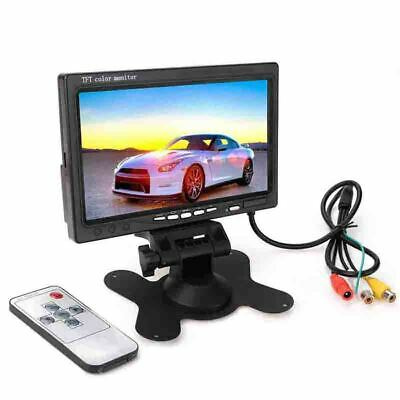 "7"" inch TFT LCD Color Screen Monitor 2 Video Input Car Rear View Backup Camera"