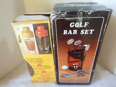 Bar Golf Set Cocktail Glass Retro Shaker