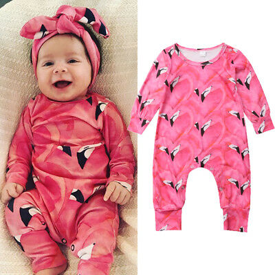 US Toddler Newborn Baby Girls Infant Romper Jumpsuit Bodysuit Clothes Outfits