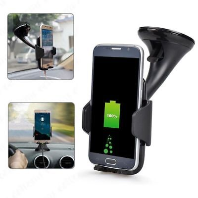 Real Fast Qi Wireless Charger Car Mount Holder Samsung Galaxy S9 S8 Note 8