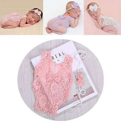 Newborn Baby Boys & Girls Stretch Wrap Infant Photography Photo Prop Jumpsuit