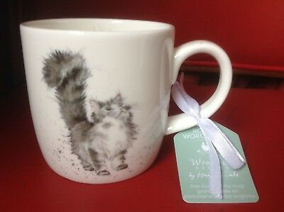 "Royal Worcester Wrendale ""Lady Of The House"" Cats mug cup New Fine Bone China"