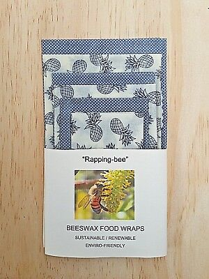 BEESWAX FOOD WRAPS  6 Pack.  Say no to cling wrap