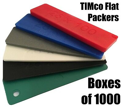 Boxes of 1000 Plastic Flat Packers 100mm x 28mm Frame Window Glazing Flooring