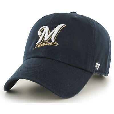 47 Brand Relaxed Fit Cap - MLB CLEAN UP Milwaukee Brewers