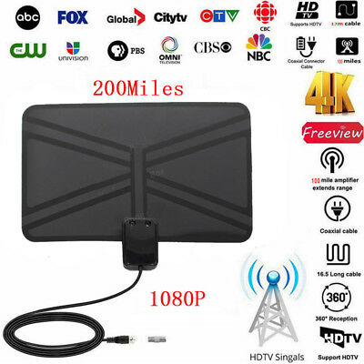 HDTV Antenna Freeview Digital Portable Indoor Signal Arial TV Digital HD Skywire