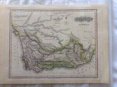 South Africa 1803 antique original map in excellent condition