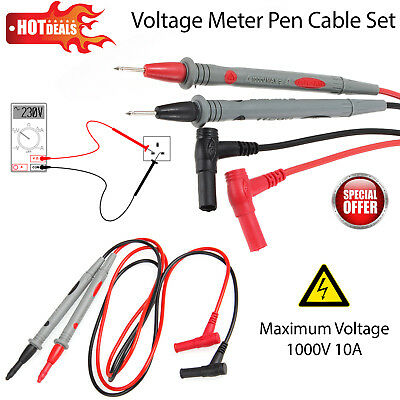 1 Pair Universal Probe Test Leads Cable Digital Multimeter Meter 1000V 10A Cat.2