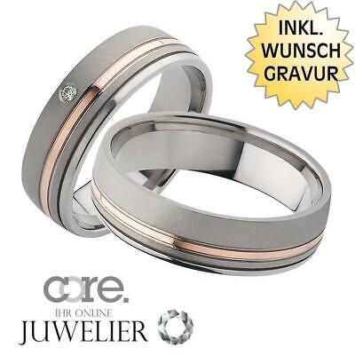 Gravur A19024239 Trauringe Eheringe Aus 333 Gold Rotgold Palladium Bicolor Ink Jewelry & Accessories