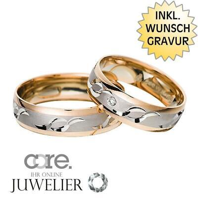 Gravur A19018865 Jewelry & Accessories Trauringe Eheringe Aus 333 Gold Rotgold Palladium Bicolor Ink