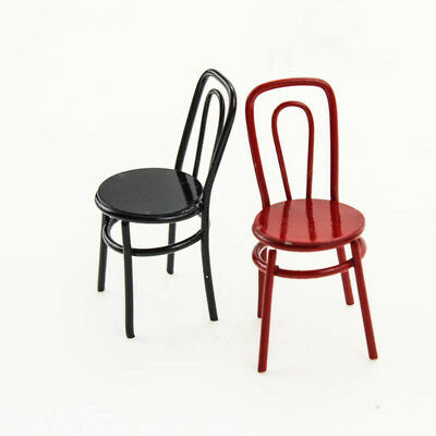 Miniature Alloy Round Seat Chair Furniture 1/6 1/12 Scale Model Home Toys AU