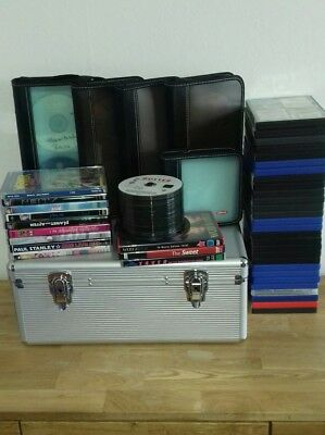 150 DVDs,CD-R Spielfilme Mit Koffer Mappen Blockbuster Marvel Comedy Familie TV
