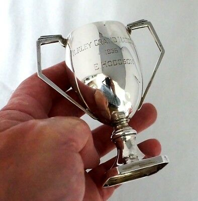 Sterling Silver Motor Cycling Trials Trophy. Ilkley Grand National Yorks 1935.