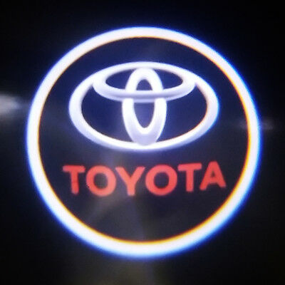 2x Ghost Shadow Laser Projector Logo Courtesy LED Light Door Step for Toyota