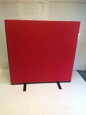 PanelWarehouse Office Screen Divider Partition 1200W x 1200H Red Nyloop