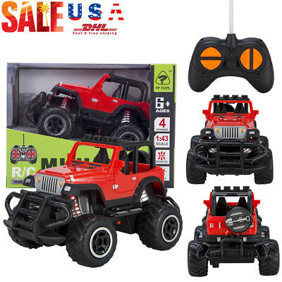 Birthday Gift Toys for Kids RC Jeep Buggy Car Rechargeable w/ Remote Control NEW