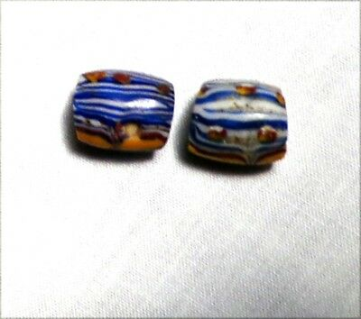 BEADS - GLASS Slave / Trade Beads - Mixed Colors (2) Total