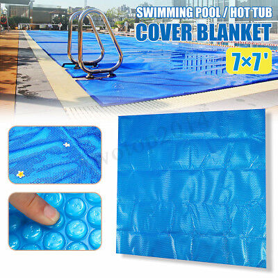 7' x 7' Spa Hot Tub Thermal Bubble Solar Blanket Cover Square Heat Retention US