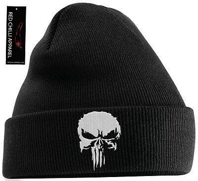 Punisher Inpired Beanie Hat Gym Hat