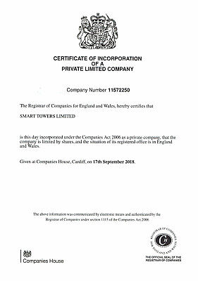 Ltd company for sale. Est. 2018 - Showing Active at Companies House
