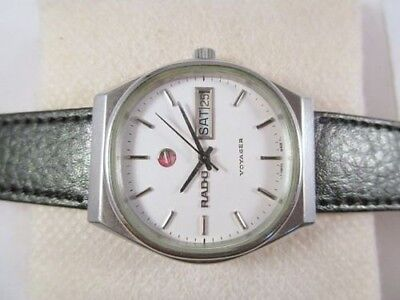 100% Vintage Rado Voyager Automatic Day-Date Swiss Made Mens Antique Wrist Watch