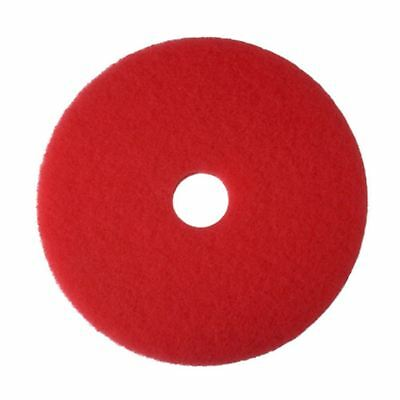 Qualtex Floor Cleaning Pad, Red, 20 inch, Pack of 5