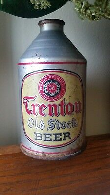Trenton Old Stock Crowntainer Beer Can, Peoples, Trenton, NJ, 12 oz, IRTP, Cone