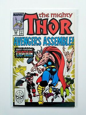 Mighty Thor #390 NM- 🔥 1st Time Steve Rogers Lifts Mjolnir 🔥 Marvel 1988